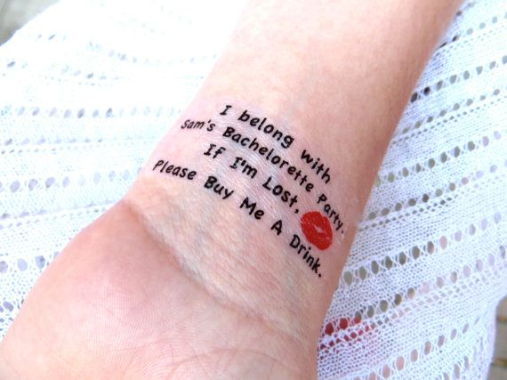 10 Bachelorette Party Sorority Party Temporary Tattoo by EARinkFun, $32.00