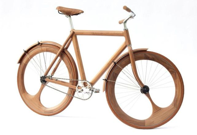 A Stunning Handmade Bike Built Out Of Wood | Co.Design: business + innovation + design: Cycling, Wooden Bike, Wooden Art, Wood Bike, Jangunneweg, Jan Gunneweg, Gunneweg Wooden, Design, Wooden Bicycles
