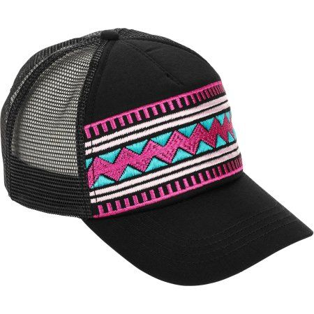 Women's No Boundaries Tribal Fashion Baseball Hat, Black