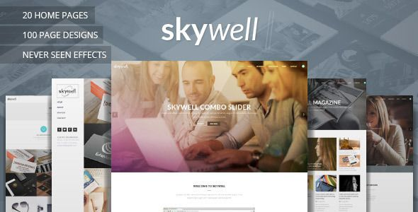 Skywell - MultiPurpose Adobe Muse Template - Muse Templates
