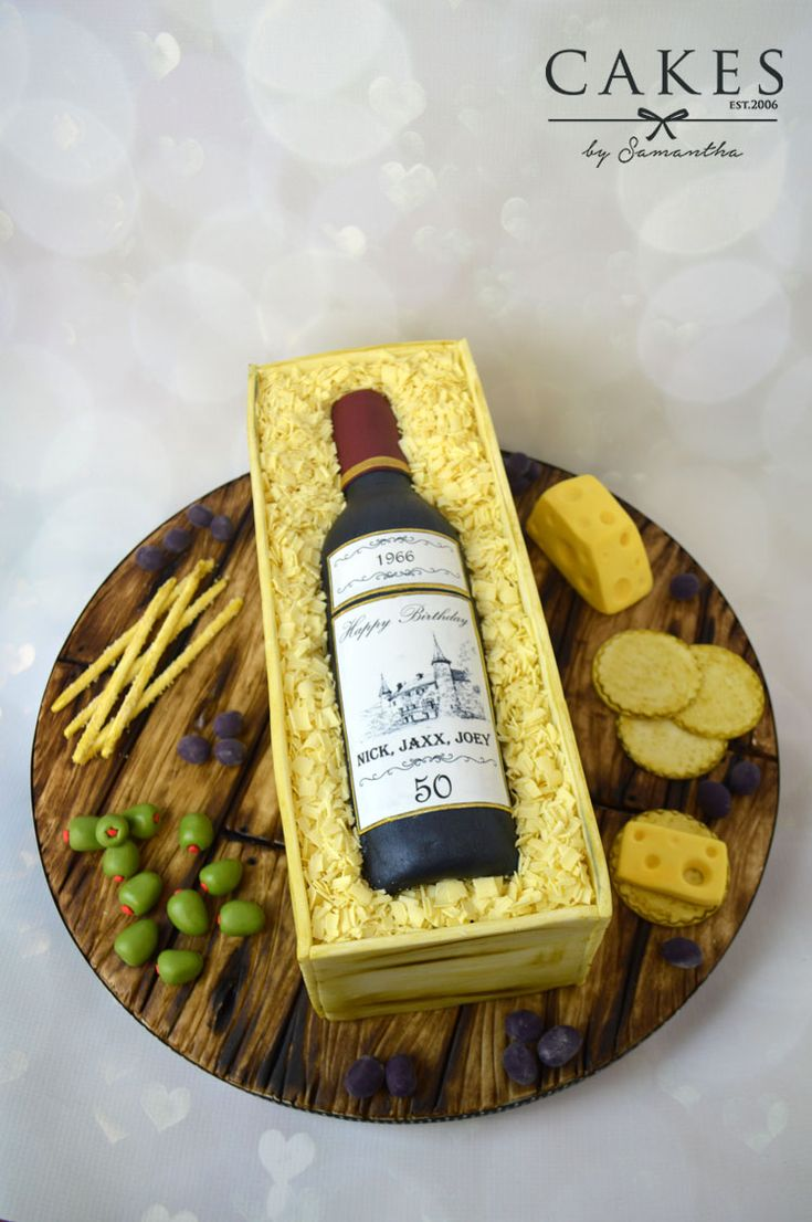 Personalised Wine bottle cake.