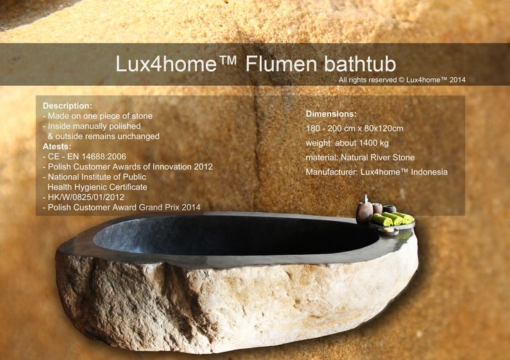 Natural River Stone Bathtub - Model Flumen Lux4home™