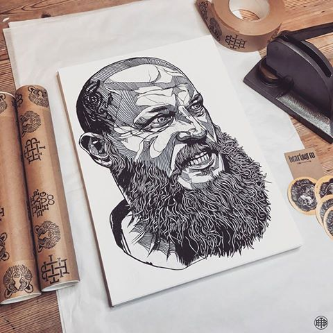 Ragnar: Limited Edition Print + T-Shirt sets are flying out, limited stock left - so don't miss out gang! THEBEARHUG.com/search/ragnar