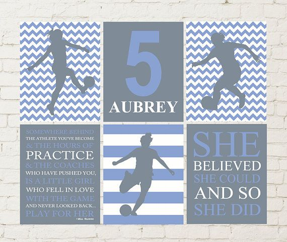 Soccer poster, soccer art, female soccer player, Inspirational sports quotes art, she believed she could, girls birthday gift, kids posters