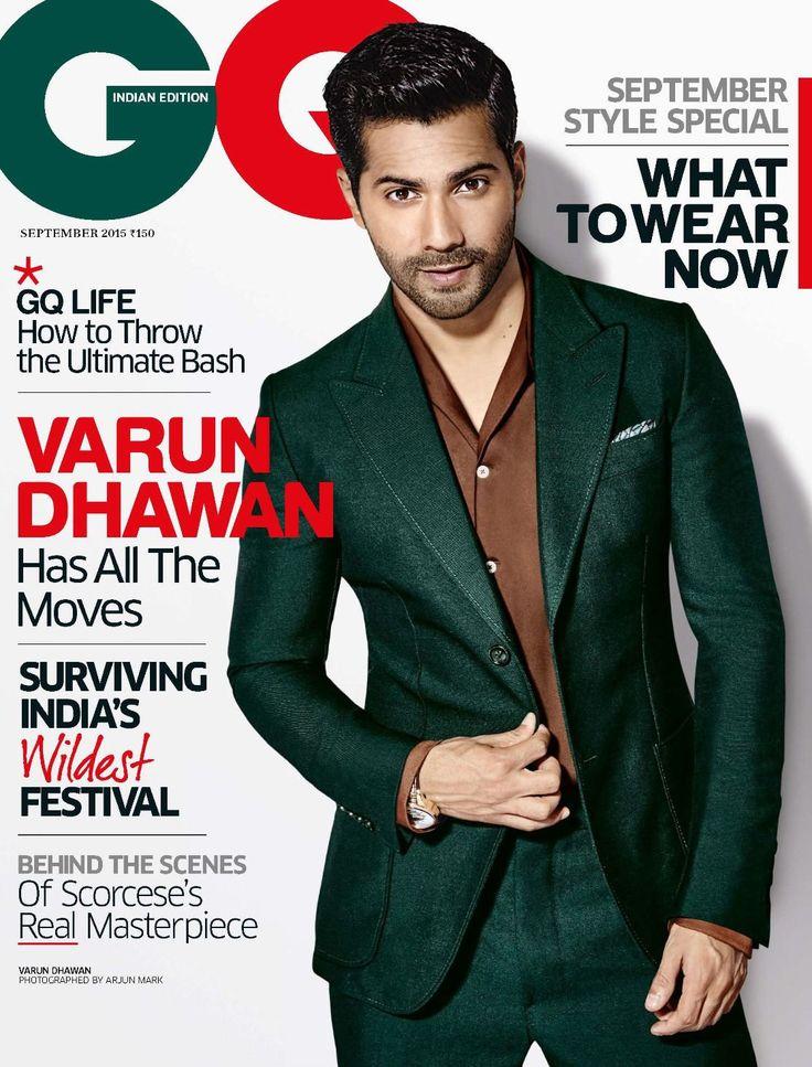 Male Fashion Trends: Varun Dhawan para GQ India Septiembre 2015