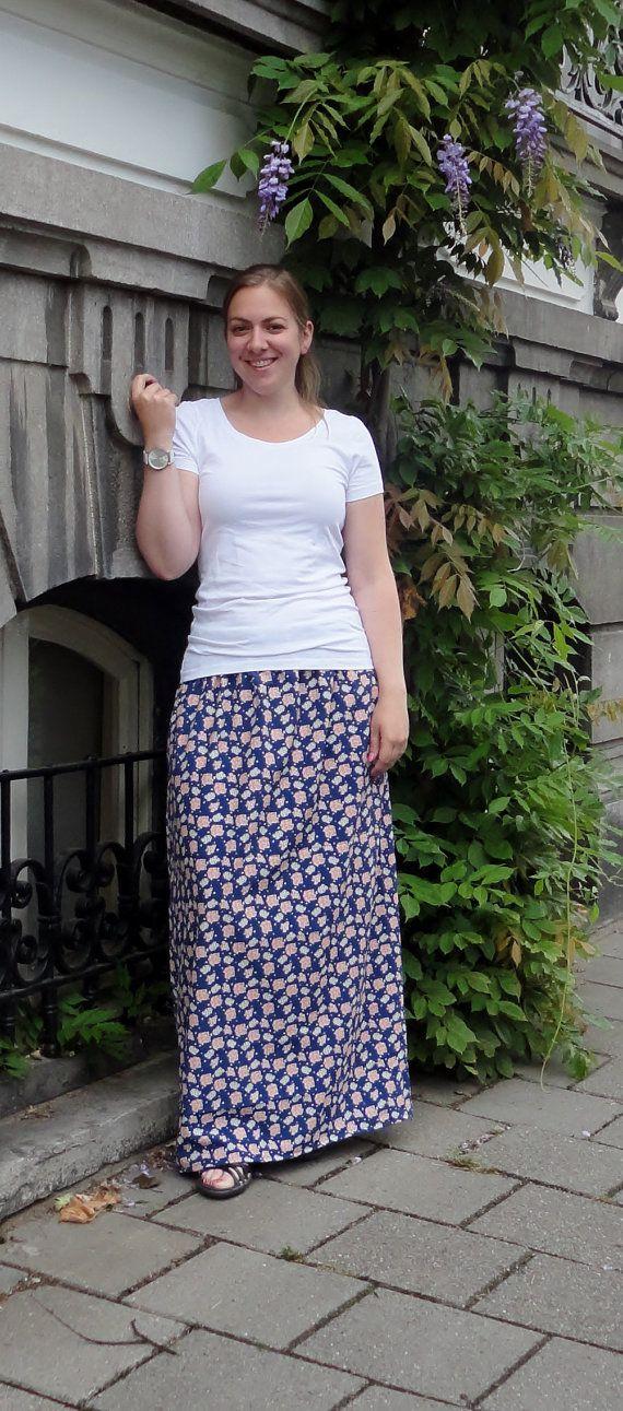 Maxi Skirt, fashion  https://www.etsy.com/nl/listing/239928546/blauwe-maxi-skirt-gebloemd-maxi-rok
