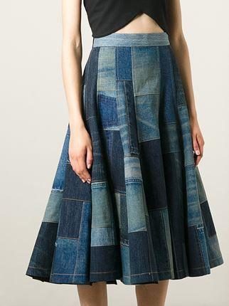 Junya Watanabe Comme Des Garçons Saia jeans