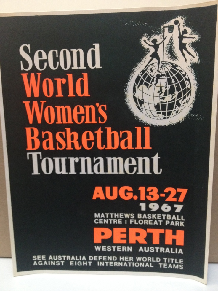 1967 World Netball Championships (World Women's Basketball) Poster