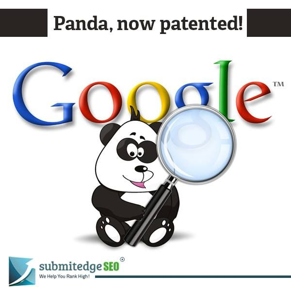 Panda, Google's algorithm, gets a US patent. Panda algorithm was designed to monitor quality content and works in indexing pages.