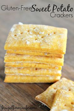 I used sweet potatoes we had leftover from dinner last night to make these gluten-free sweet potato crackers, and they were a huge hit! Nice to have a cracker recipe that actually healthy and not just empty carbs - and easy to make!