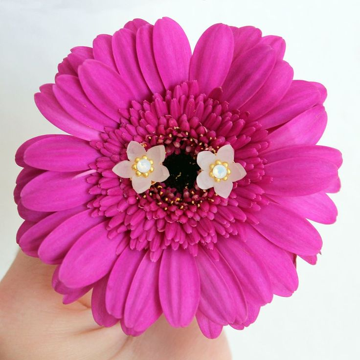 FLOWER POWER! Orecchini jasmine a lobo | LULI Art Bijoux #flower #handmade #earrings #pink #flower