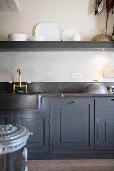 Blue Grey Kitchen Cabinets Entrancing Decorating Inspiration