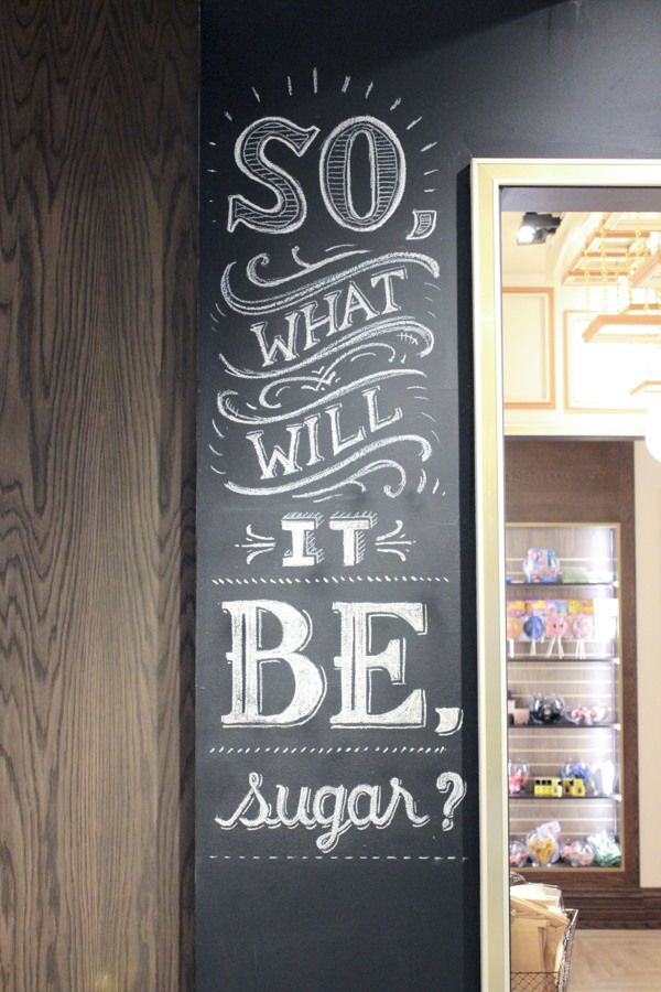 Lolli and Pops Chalk Wall: Glendale, CA, typography, calligraphy, signs, retail, lettering