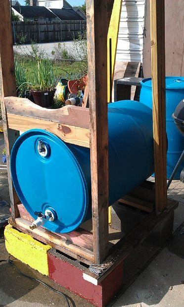 Build a 3 drum rain collection system better drums rain for Build a rainwater collection system