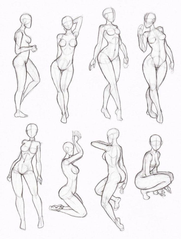 Copy's and Studies:  Kate-FoX  fem body's 4 by WonderingMind23