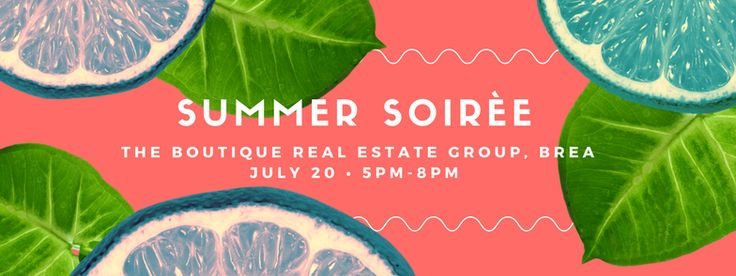 ☀️ Summer Soiree  Come Visit us this Thursday July 20th from 5-8pm @theboutiquere Brea Office.