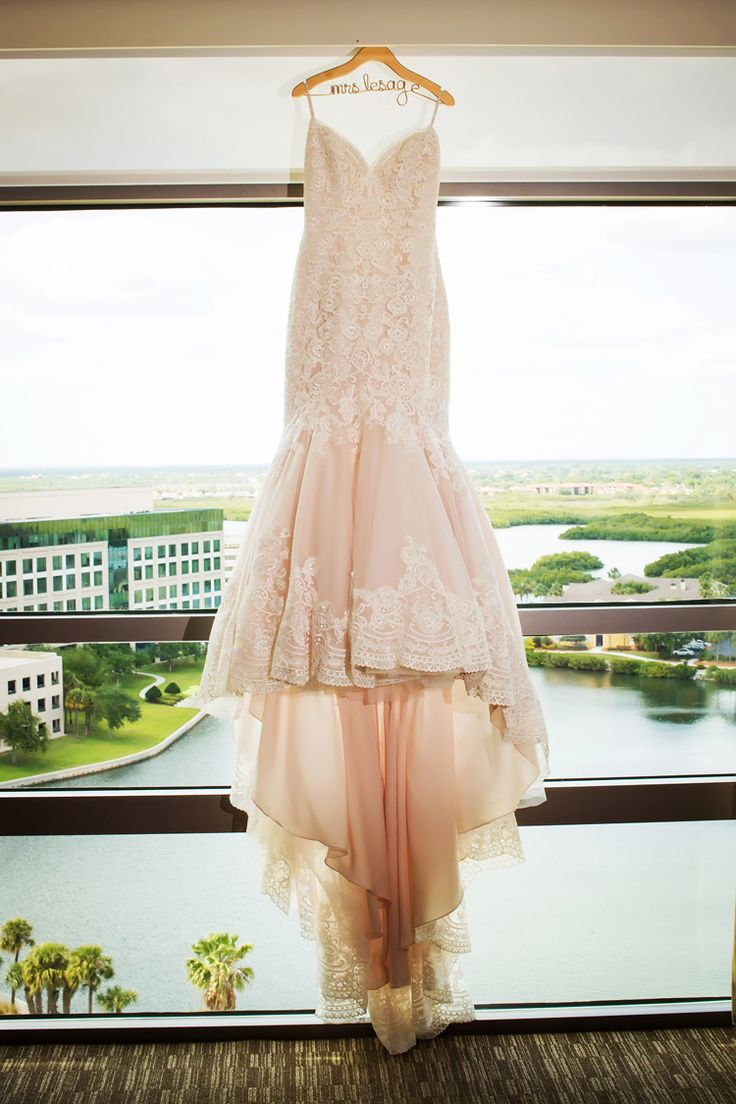 Gorgeous blush pink wedding dress by Morilee by Madeline Gardner (Limelight Photography)