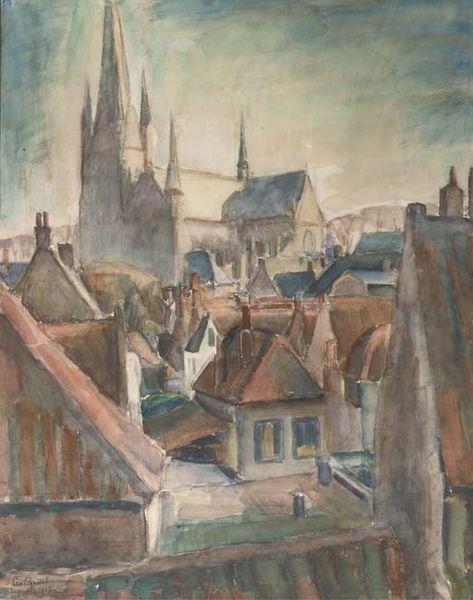 Leo Gestel. Uitzicht over Woerden 1917.