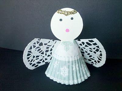 Kerst met kleuters, Engel knutselen / Angel Craft