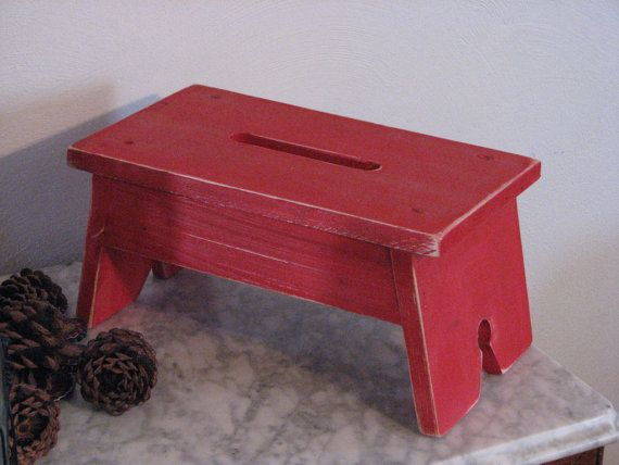 Small Farm House Step Stool by KrazyCoonhoundDesign on Etsy