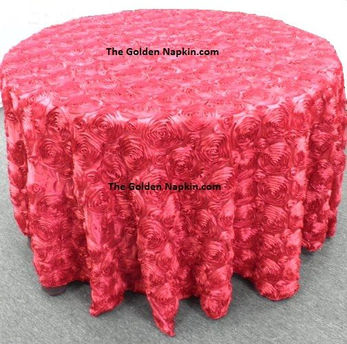 Rose Satin Table Cloths at wholesale price