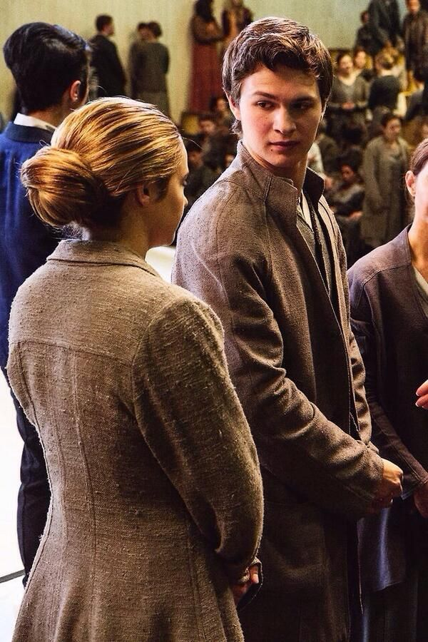 Some people would look at this pic and say Tris and Caleb others would say Hazel and Augustus. Depends on who you are .