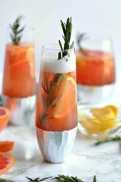 Bubbly Winter Citrus Sangria champagne brunch alternative cocktail drink#contest