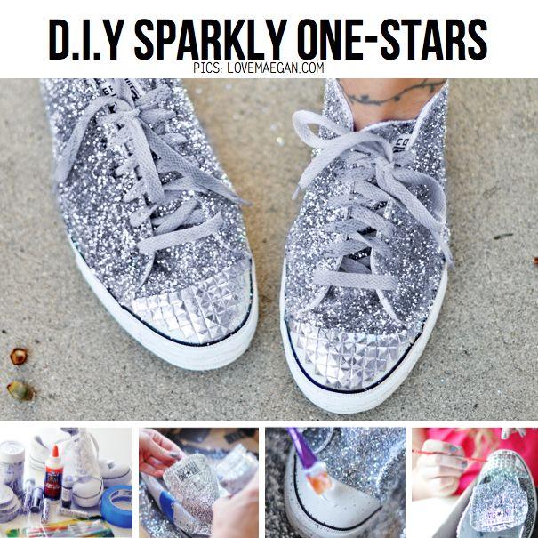 Glitter Sneaker DIY : Miu Miu Inspired