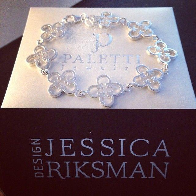 Paletti Jewelry Bliss silver bracelet designed by Jessica Riksman seen at Instagram @pirittahagman
