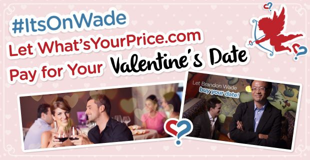 WhatsYourPrice and CEO Brandon Wade are taking care of the bill this Valentine's Day with the #ItsOnWade event. All you have to do is sign up for the site by 3 p.m. EST on Feb. 14 and set up the date! ➔ http://www.datingadvice.com/online-dating/whatsyourprice-pay-valentines-date