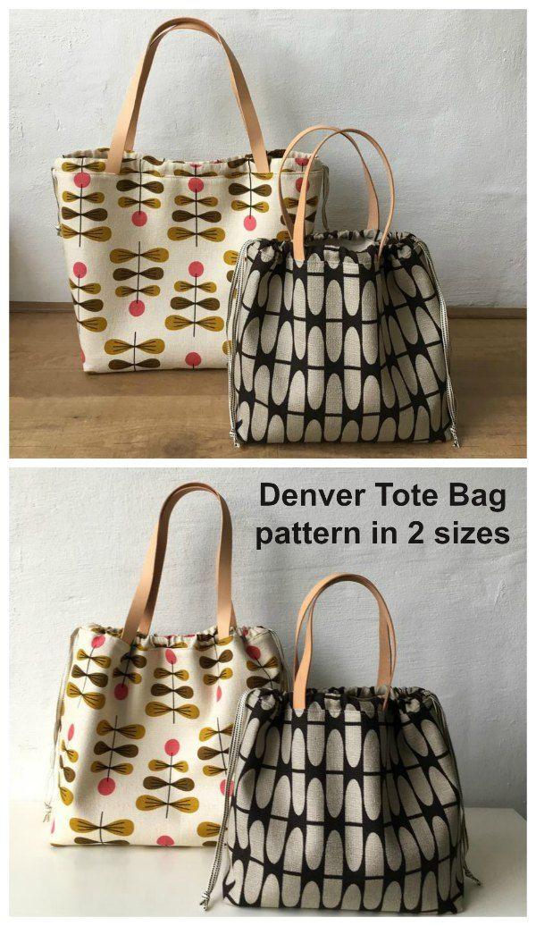 Denver Tote Bag Pattern In 2020 Tote Bag Pattern Small Tote Bag