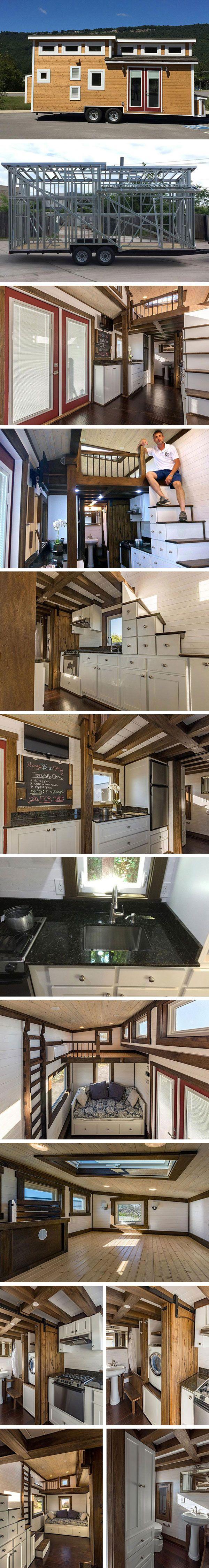 Дом на колесах Nooga Blue Sky от Tiny House Chattanooga #tinyhomesdigest #tinyhouse #houseonwheels #camper