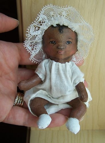 my latest small painted cloth doll baby