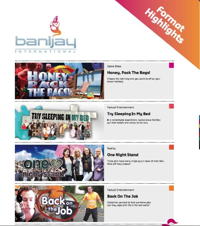 Banijay International's NATPE Print Ad for the ONE NIGHT STAND format