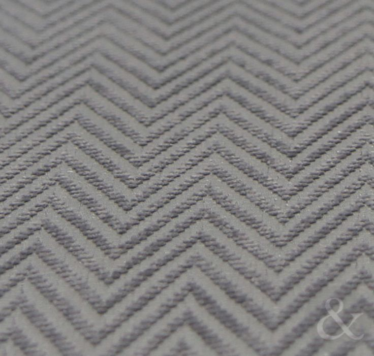 Luxury Herringbone Tweed Silver Grey Curtains - Lined Modern Eyelet Curtains