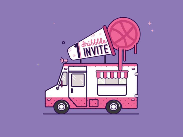 One Dribbble invite by Crisp Motion