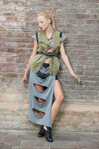Katja Dress Grey Cut CUT Cut