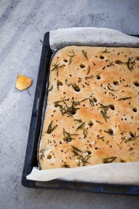 focaccia leipä resepti ohje | Liemessä