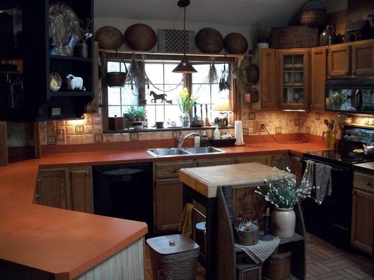 More Black U2013 Painted Refrigerator And Formicau2026. Primitive HomesPrimitive  KitchenCountry ...