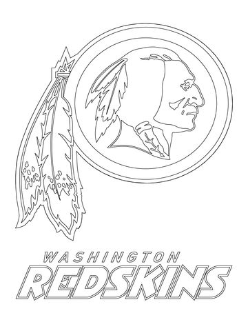 Washington Redskins Logo Coloring