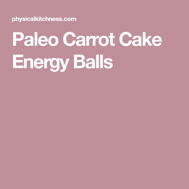 Paleo Carrot Cake Energy Balls