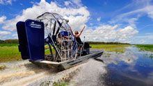 Airboating, Mary River floodplains, Darwin, Northern Territory, Australia