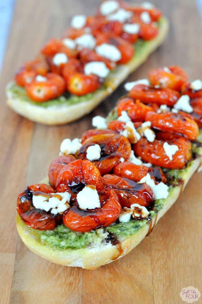 Roasted Tomato Goat Cheese Pesto Pizza - My Suburban Kitchen