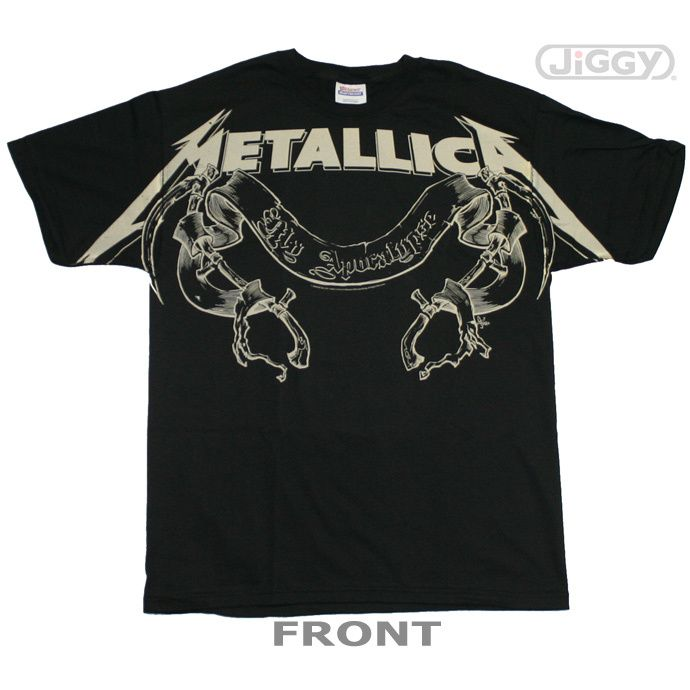 "JiGGy.Com - Metallica - My Apocalypse T-Shirt Metallica t-shirt with artwork from their single, ""My Apocalypse"" on the front. Printed on a black 100% cotton t-shirt."
