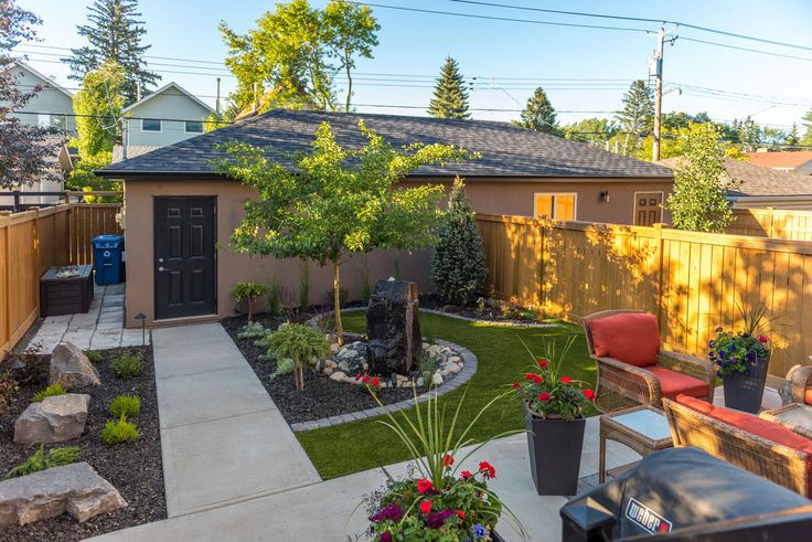 We designed this backyard to a duplex. Even the smallest of spaces can be made for elegant living.