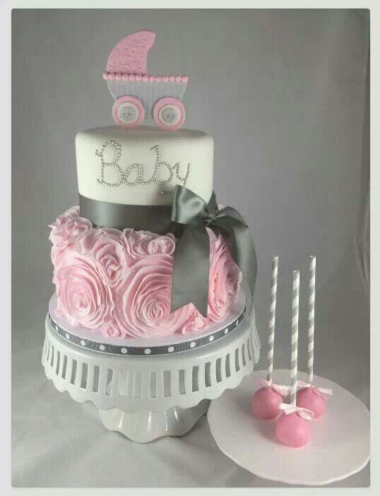 Perfect cake!! Just change the stroller on top to a tiara!!