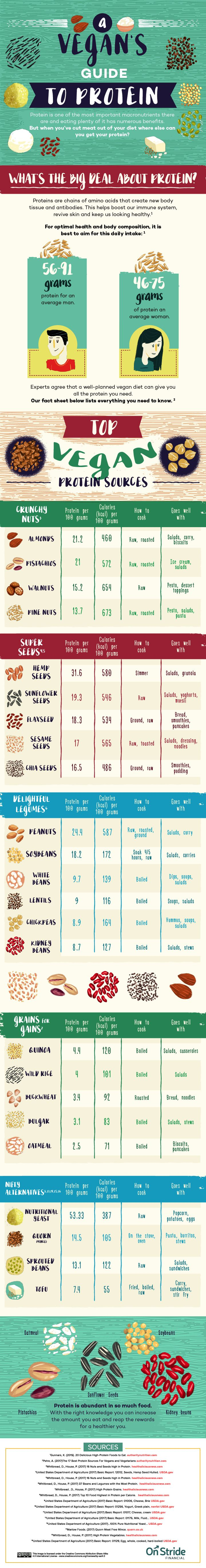 vegan protein sources chart http://www.weightlossjumpstar.com/category/nutriton/