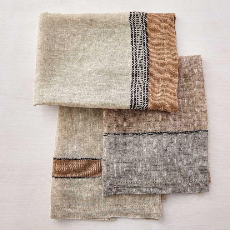 HANDWOVEN LIBECO LINEN HAND TOWELS