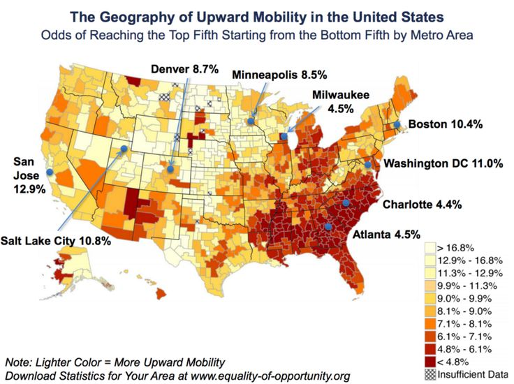 These Maps From Raj Chetty Show That Where Children Grow Up Has A Major Impact On Their Lifetime Earnings