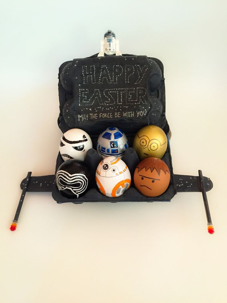 Star Wars Easter Bonnet Cap with painted eggs
